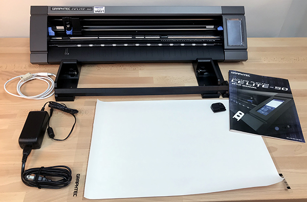 The Graphtec CE Lite-50 and included accessories