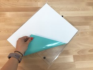 EasyWeed Stretch Sea Glass on the Silhouette cutting mat