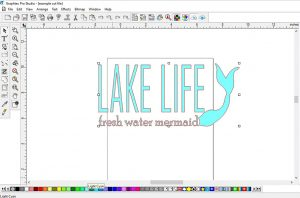 Lake life mermaid cut file in Graphtec Pro Studio