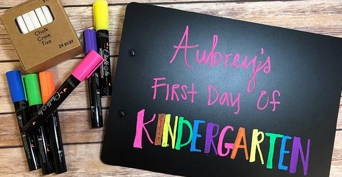DIY Clipboard back to school sign with EasyPSV Removable Chalkboard