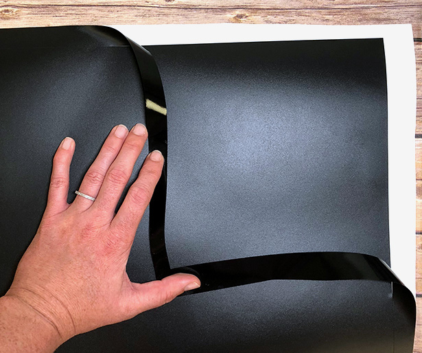 Weeding EasyPSV Removable Chalkboard after cutting