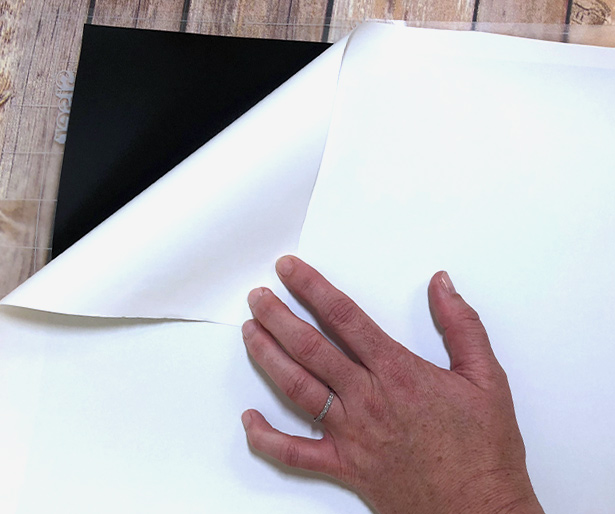 Peel and remove paper liner from Chalkboard EasyPSV