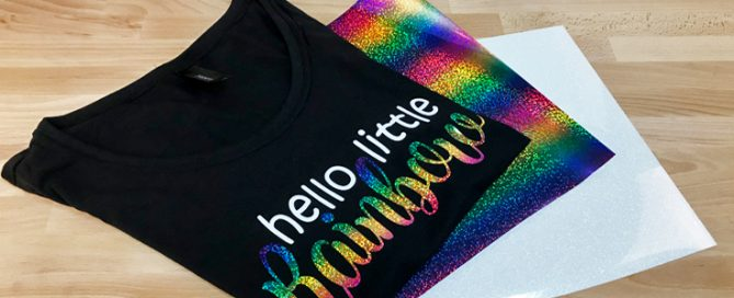 How to decorate modal fabric with Glitter and Holographic heat transfer vinyl