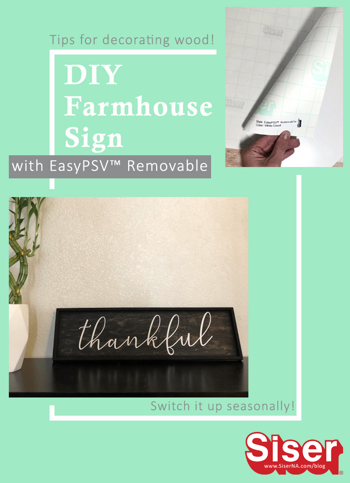 Add a touch of farmhouse style to your home with this easy DIY sign. Made with EasyPSV™ Removable, this Thanksgiving sign can easily be transformed into Christmas decor. Check out this tutorial for expert tips on decorating painted wood with adhesive vinyl!