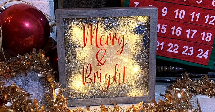 DIY Christmas decor with glass shadow box and EasyPSV