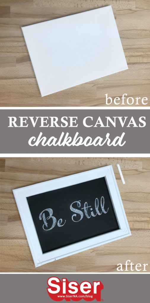 Turn a plain stretched canvas into a re-usable chalkboard with NEW BlackBoard HTV from Siser! This reverse canvas is easy, quick, and can be used in so many ways! From kitchens to classrooms, this chalkboard reverse canvas is a perfect addition!