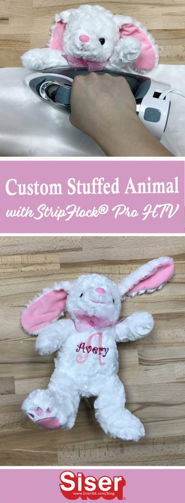 Add a special touch to any stuffed animal with NEW StripFlock® Pro heat transfer vinyl from Siser®. Names, phrases, or birth stats- StripFlock® Pro's fuzzy texture will always blend seamlessly and can even be ironed !