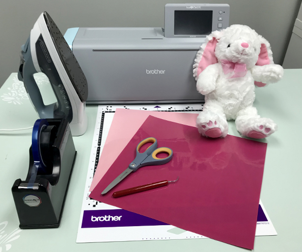 supplies to customize a stuffed animal with iron on vinyl