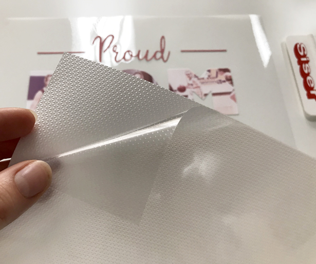 Separating EasySubli Mask from the aerated backing
